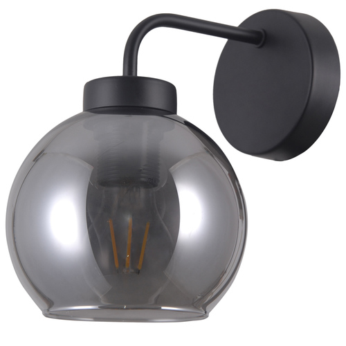 Black Scandinavian Wall Lamp Poggi E27
