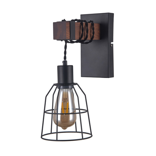 Black Wall lamp Reda E27