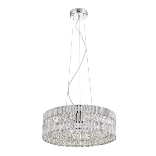 Silver Felicia G9 Hanging Lamp, 6-bulb