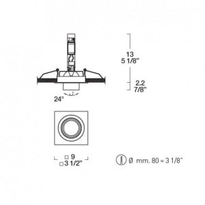 Movable eye Itre (Leucos) SD 904 halogen fixture small 1