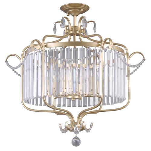 Classic Ceiling Lamp with Rinaldo E14 Crystals, 6-bulb
