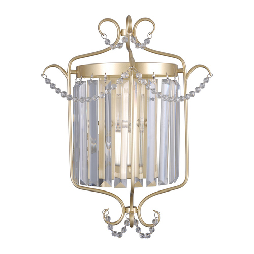 Golden Classic Wall Lamp with Rinaldo Crystals E14
