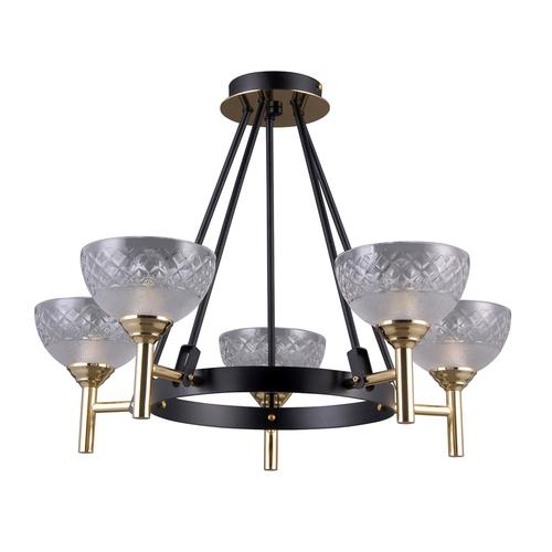 Black Pendant Lamp Tomasso E14 5-bulb