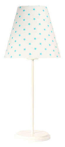 Table lamp with lampshade Ombrello 60W E27 50cm white stars