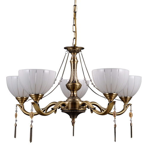 Gold Styled Baxio E27 5-bulb Chandelier