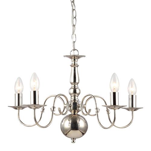 Stylized Chandelier Marion E14 5-bulb