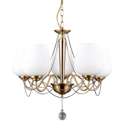 Gold Stylized Metamo E27 5-bulb Chandelier