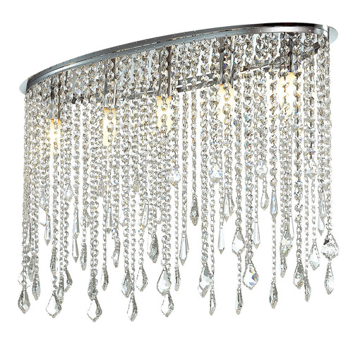 Classic Kaas E14 5-point Crystals Ceiling Lamp