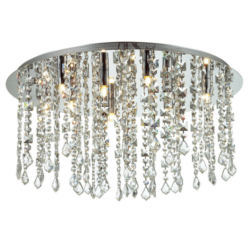 Classic 12-point Shiraz G9 Crystals Ceiling Lamp