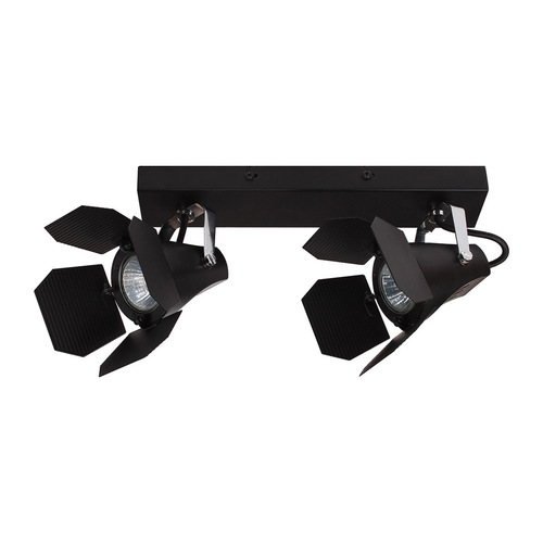 Black Modern Spotlight Milton GU10 2-point
