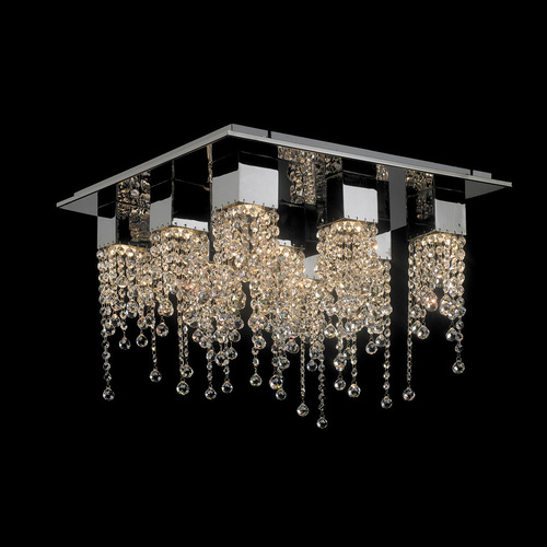 Classic 9-point Larix GU10 Crystals Ceiling Lamp