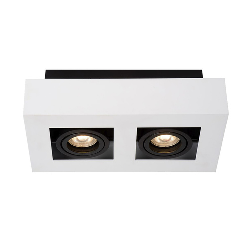 White Casemiro GU10 2-bulb Surface Lamp