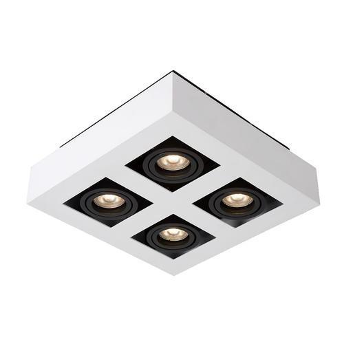 White Casemiro GU10 4-bulb Surface Lamp