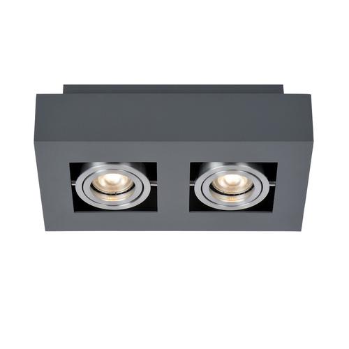 Black Casemiro GU10 2-bulb Surface Lamp
