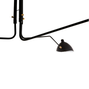 Black Davis E27 Hanging Lamp, 6-bulb small 1