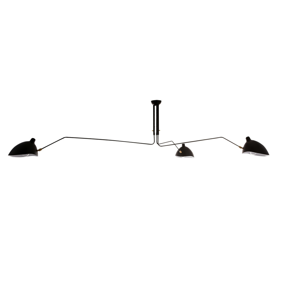 Black Davis E27 Hanging Lamp, 6-bulb