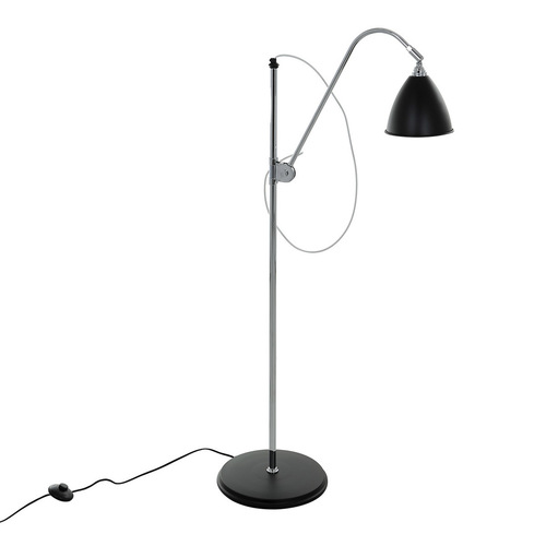 Black Floor Lamp Evato E14