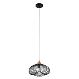 Black Hanging Lamp Nuka E27 small 1