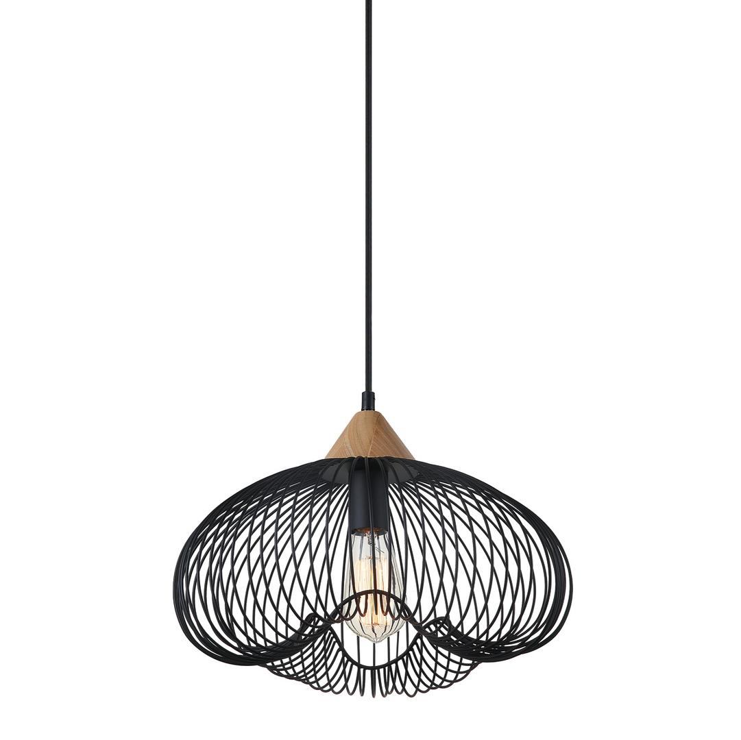 Black Hanging Lamp Nuka E27