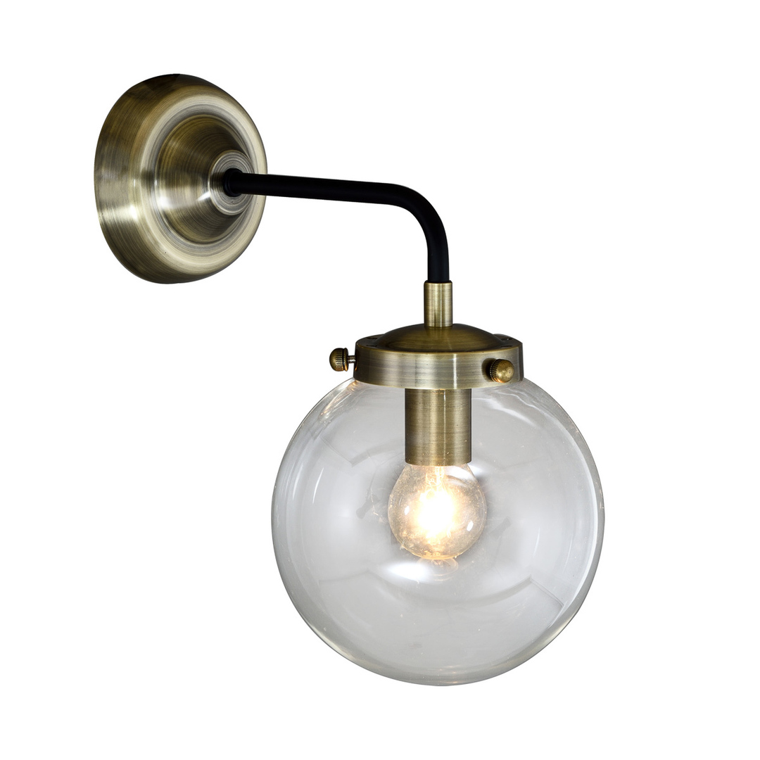 Brown Odelia E14 wall lamp