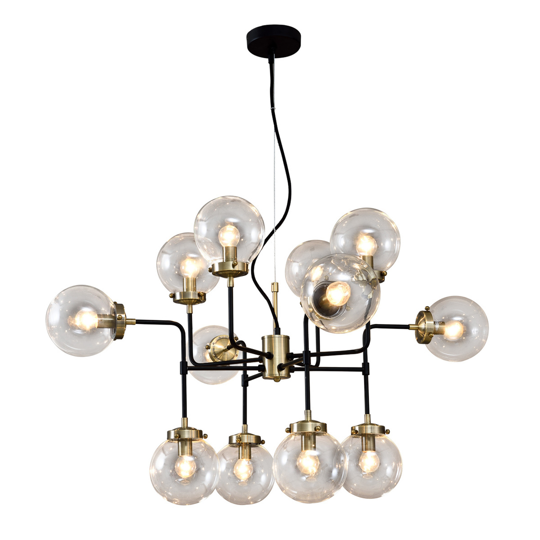 Brown Odelia E14 12-point ceiling lamp