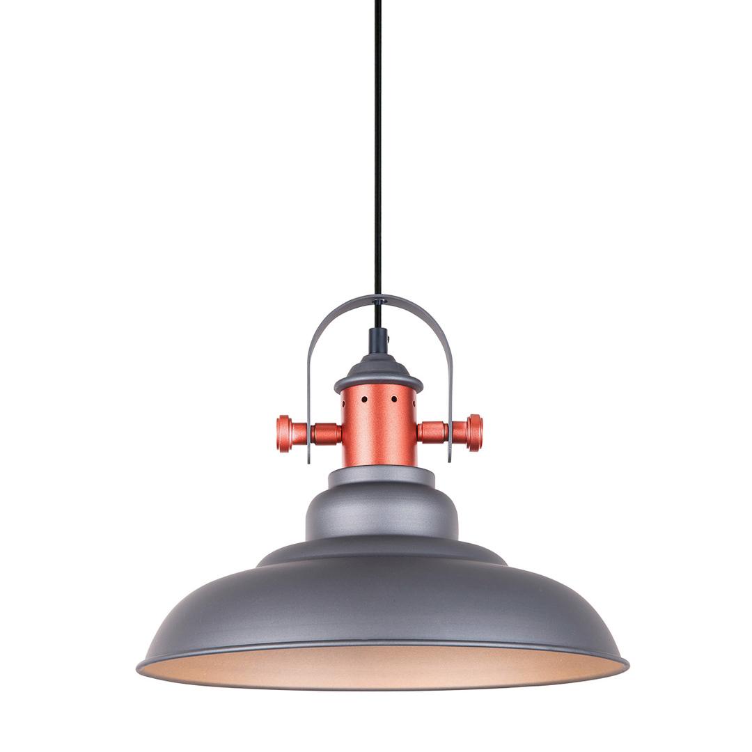 Gray Hanging Lamp Temper E27