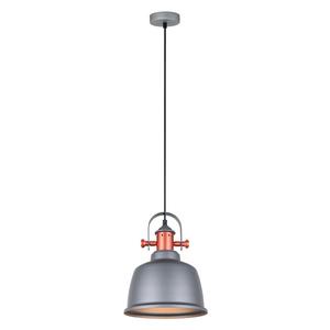 Gray Hanging Lamp Treppo E27 small 1