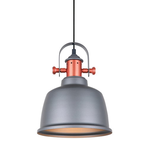 Gray Hanging Lamp Treppo E27