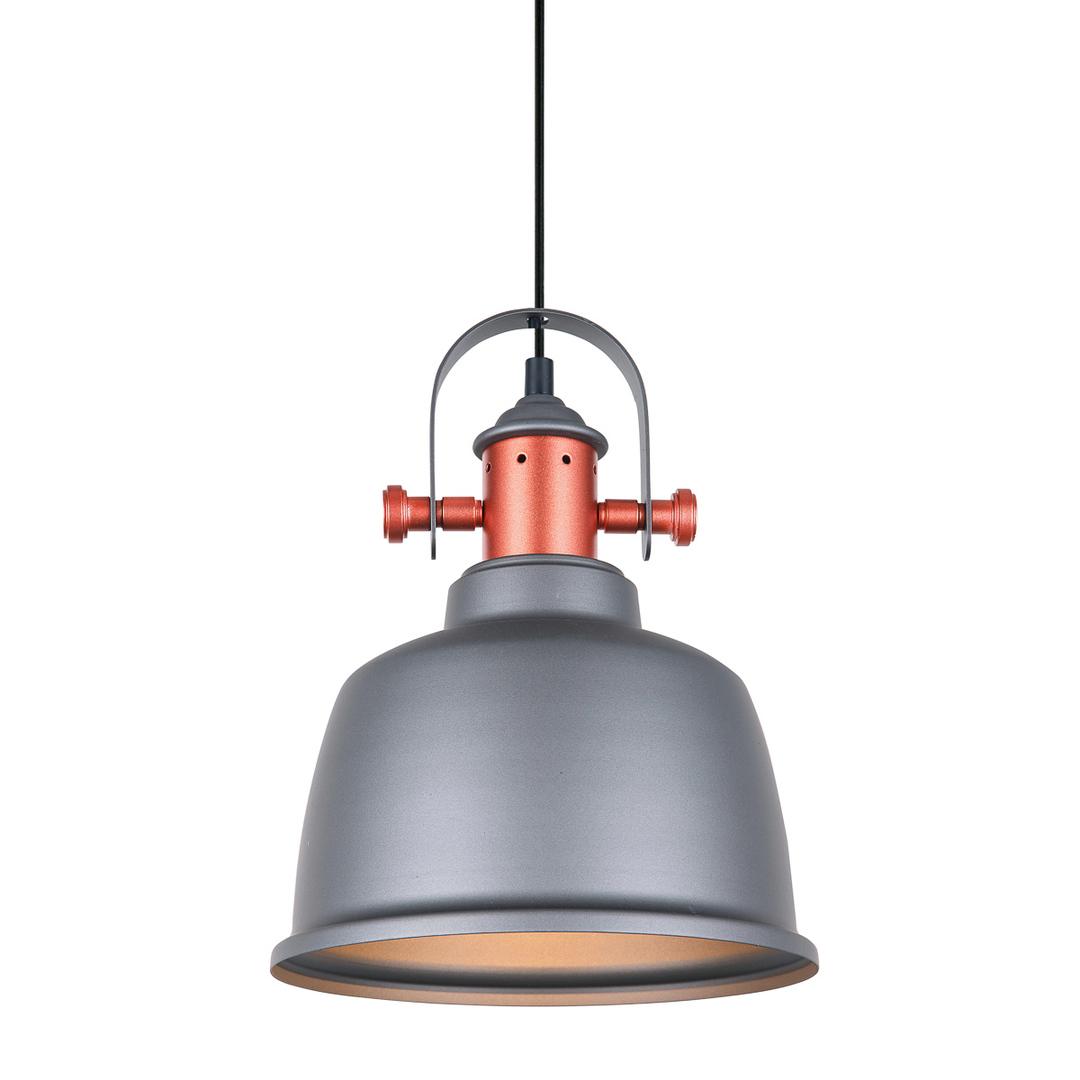Gray Hanging Lamp Treppo E27