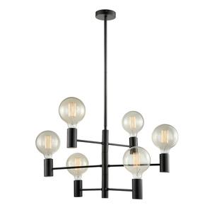 Modern Black Veva E27 6-point ceiling lamp small 1