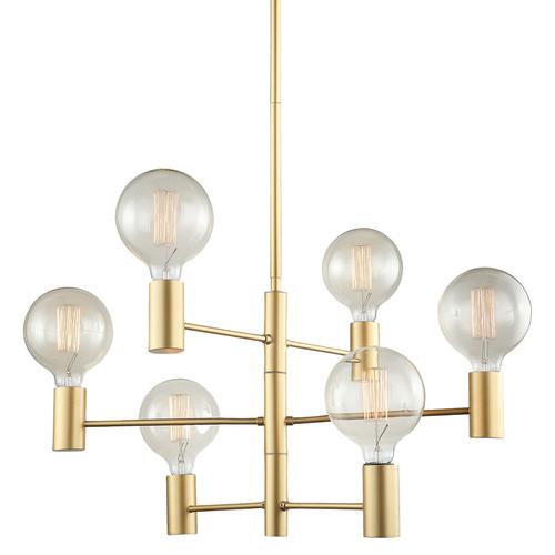 Gold Modern Veva E27 6-point ceiling lamp