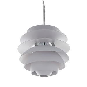 White Wes E27 pendant lamp small 2
