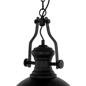 Black Hanging Lamp Maeva E27 small 3