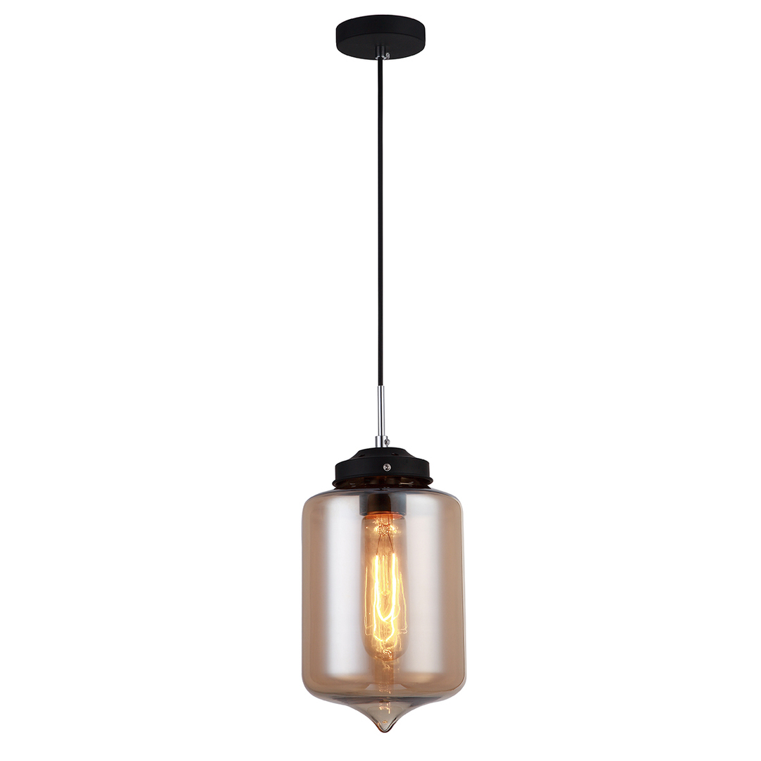 Black Hanging Lamp Tube E27