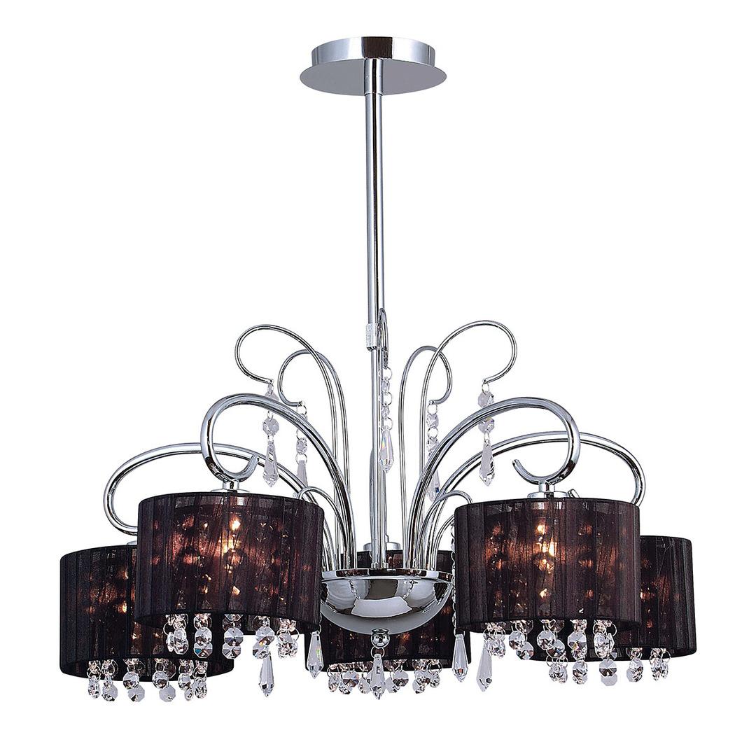 Black Span E14 5-point ceiling lamp