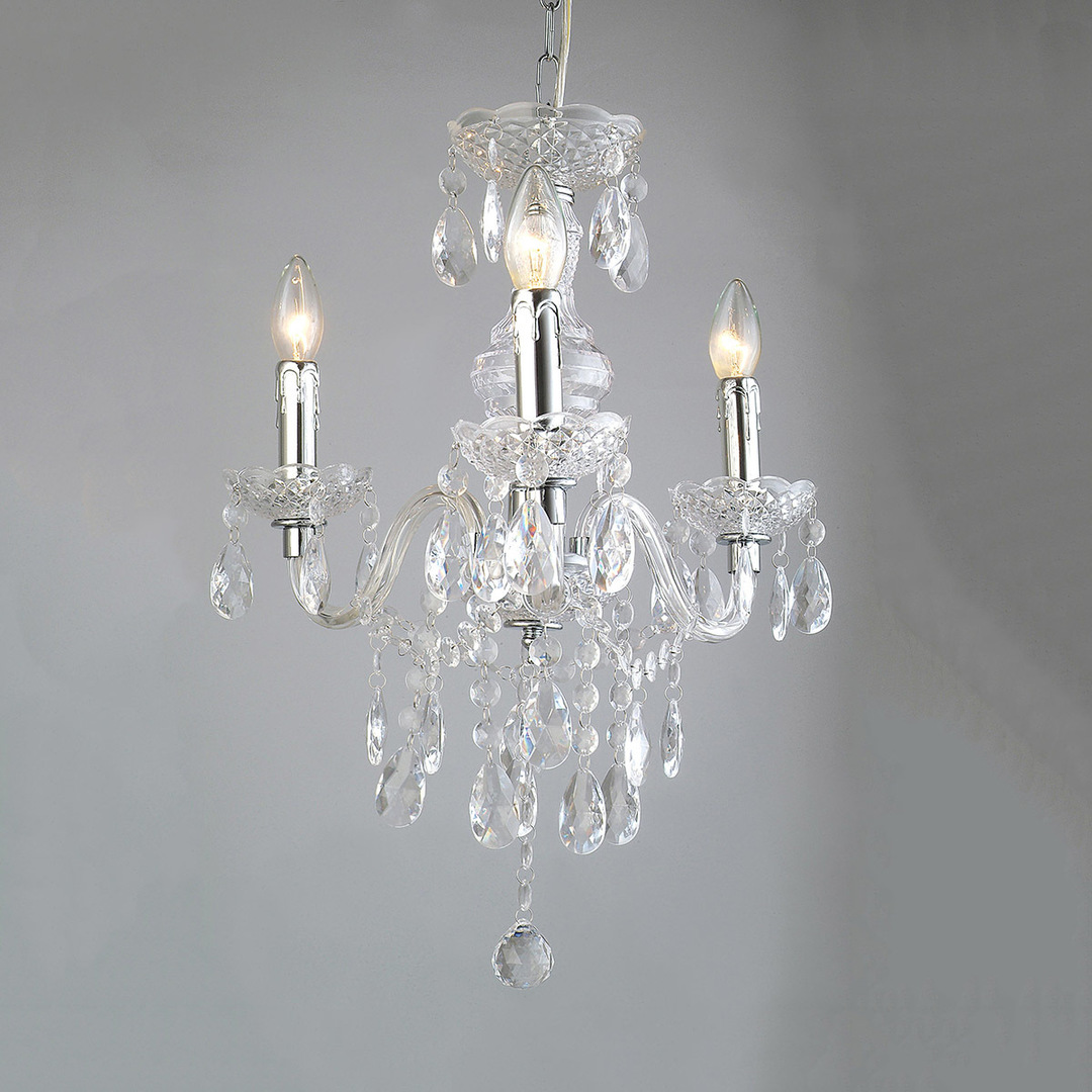 Classic 3-bulb Whiz E14 Crystal Chandelier