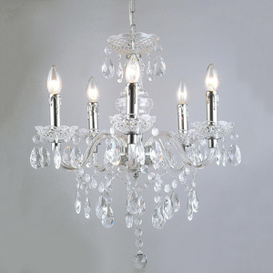 Classic Chandelier with Whiz E14 Crystals, 5-bulb small 1