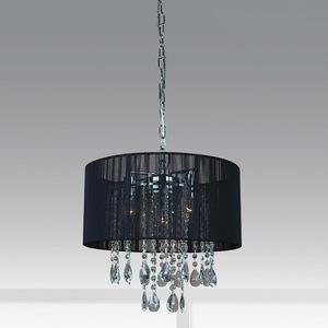 Black pendant lamp Essence E14 with 3 lights small 1