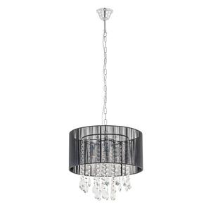 Black pendant lamp Essence E14 with 3 lights small 3