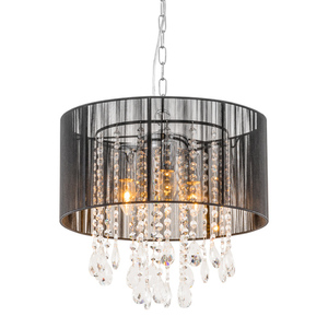 Black pendant lamp Essence E14 with 3 lights small 0