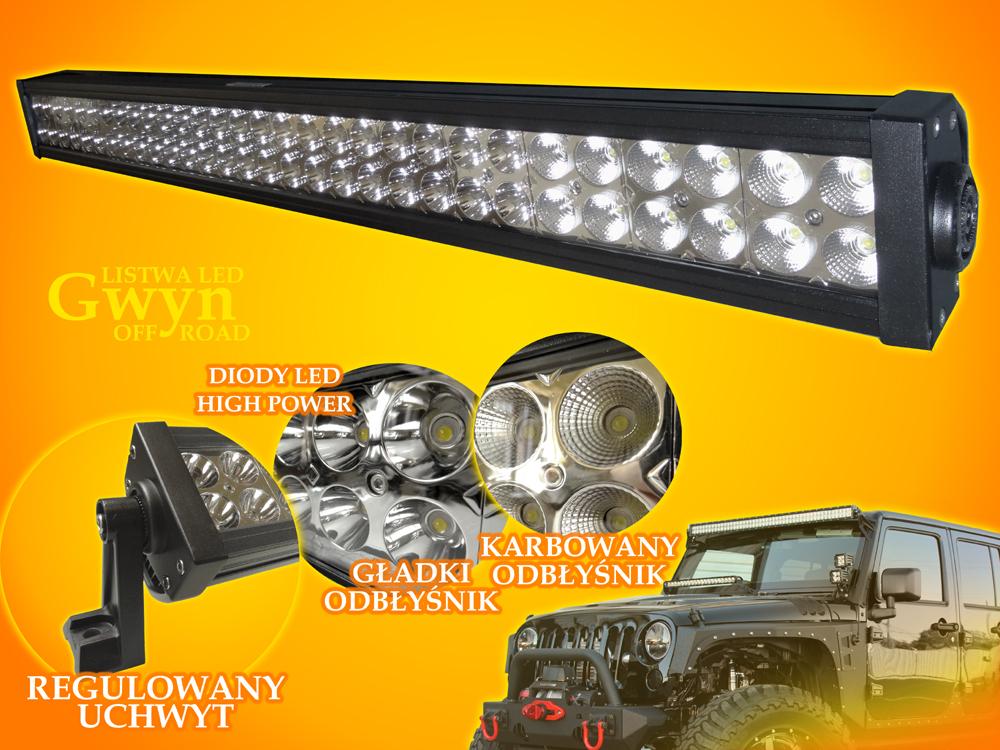 Gwyn 180W CW Off Road LED strip 12V-24V