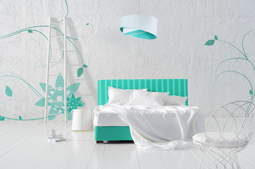 Elegance lamp for a teenager 60W E27 white / colors