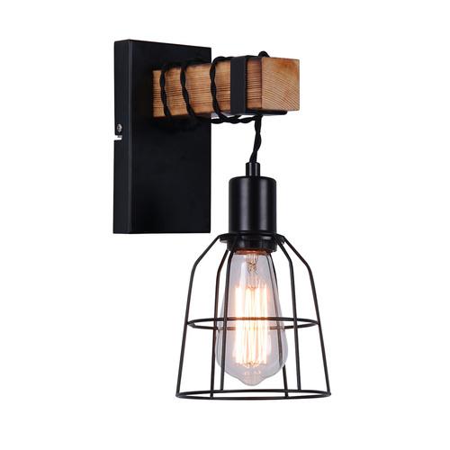 Black Ponte E27 wall lamp