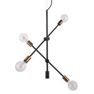 Black Hanging Lamp Edmond E27 4-bulb small 0