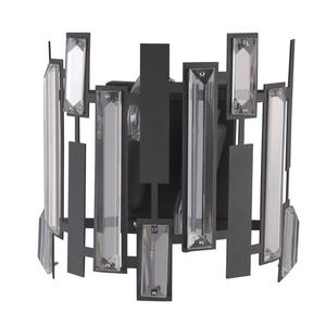 Black Modern Lukas E14 2-bulb wall lamp small 0