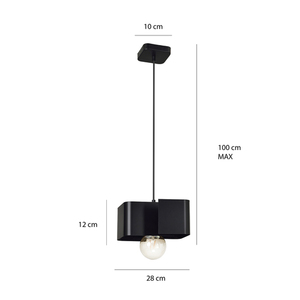 HANGING LAMP KOMA 1 BLACK small 1