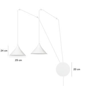 HANGING LAMP ABRAMO 2 BLACK small 1