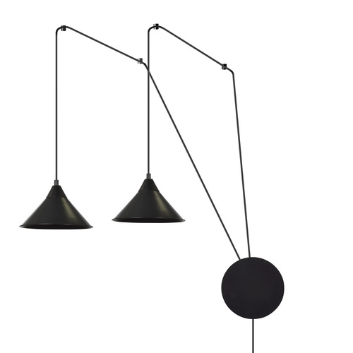 HANGING LAMP ABRAMO 2 BLACK