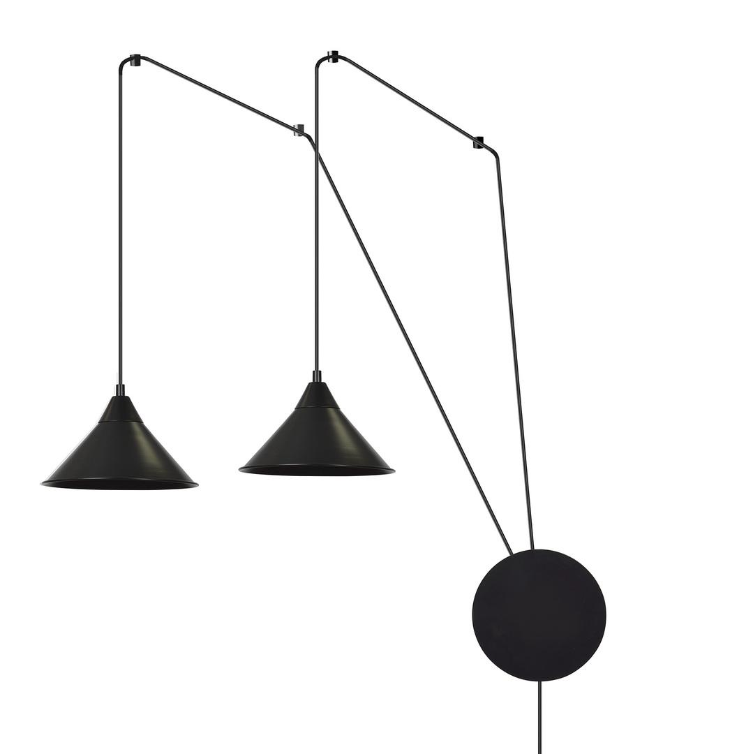 HANGING LAMP ABRAMO 2 BLACK
