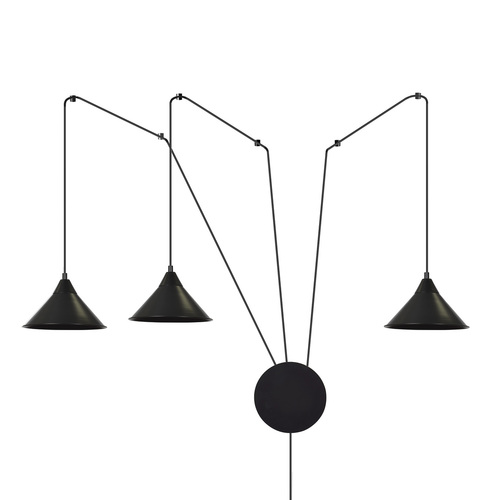 HANGING LAMP ABRAMO 3 BLACK